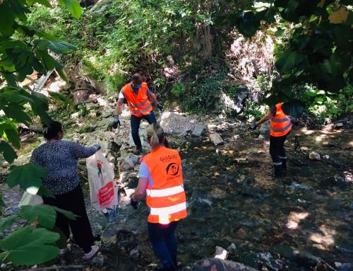 RETOUR SUR / Le ramassage de déchets au Jardin des cheminots
